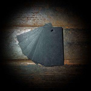 Бирки из черного картона
